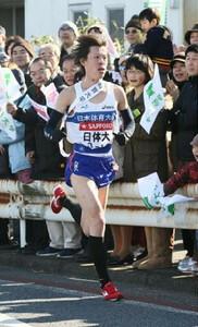 ◆第86回箱根駅伝・往路(2日)3区を力走する日本体育大学・野口拓也