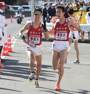 帝京大9区・小森稜太(左)