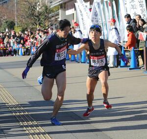 国士舘大7区・三田真司(左)