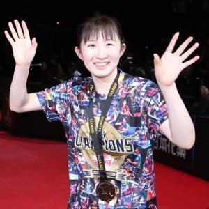 Tリーグ初代MVPに選ばれた早田ひな
