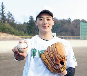 優勝と150キロ到達を目標に掲げる津田学園の前佑囲斗