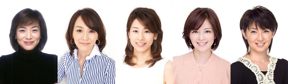 「めざましテレビ」に生出演する、(左から)八木亜希子、木佐彩子、加藤綾子、中野美奈子、小島奈津子アナ(C)フジテレビ
