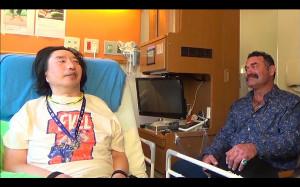 ドン・フライと病室で再会した髙山善廣(c)TBS