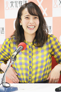 19日のラジオ・パーソナリティー就任会見で自身のこれからを率直に語った上田まりえ