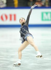 女子フリーで演技する紀平梨花(カメラ・相川 和寛)