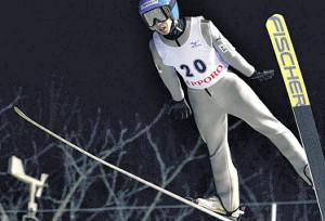 今季限りで引退する竹花健のラストジャンプ