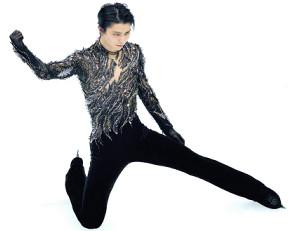男子フリーの演技を終え、ガッツポーズをする羽生結弦(カメラ・矢口 亨)