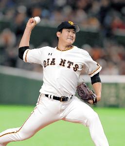 先発の菅野は、3回1失点の好投を見せた