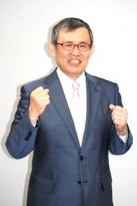 テレビ大阪の春の改編発表で、3月末で定年退職することを報告した千年屋(ちとせや)俊幸アナウンサー