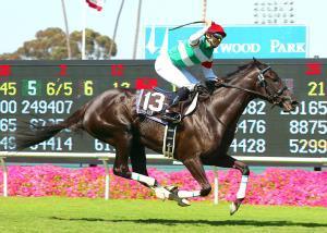 シーザリオが日本調教馬初の米G1タイトルを獲得した05年のアメリカンオークス