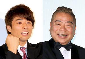 テレビ東京が誇る「緊急SOS!池の水ぜんぶ抜く大作戦」の「ロンドンブーツ1号2号」田村淳(左)と「出川哲朗の充電させてもらえませんか?」の出川哲朗