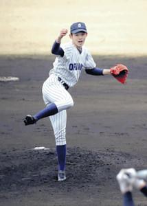 3月31日、作新学院との練習試合で力投を見せた大船渡・佐々木
