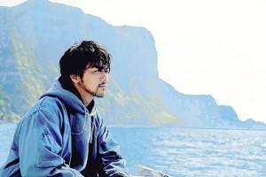 隠岐諸島でロケが行われた映画「僕に、会いたかった」の一場面