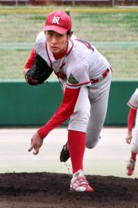 8回1失点で敗戦投手となった奈良学園大の菅田大介