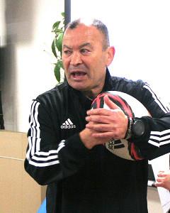 ラグビーのコーチング講座を開いたエディー・ジョーンズ氏