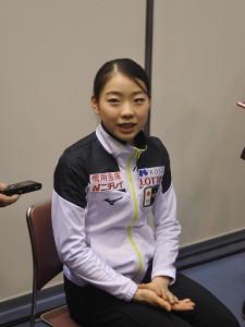取材に応じ、躍進した今シーズンを振り返った紀平梨花