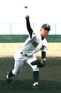 7回5失点で敗れた京都翔英の遠藤慎也