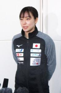 世界選手権に出発した石川佳純