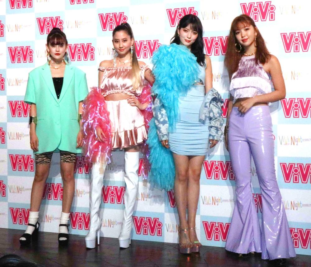 イベントに出席した左からemma、河北麻友子、八木アリサ、藤田ニコル
