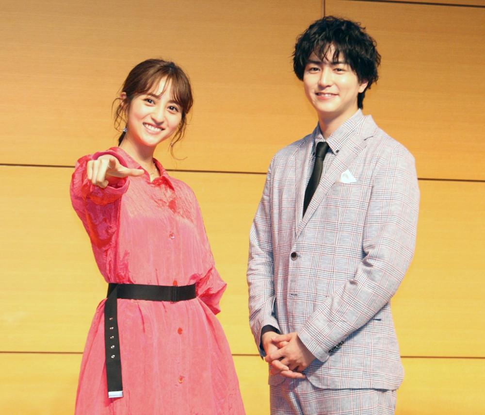 初主演映画「ダウト―嘘つきオトコは誰?―」の製作発表に出席した堀田茜、稲葉友