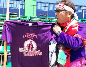 5月11、12日のイースタン・楽天戦で限定発売される「DJチャス。Tシャツ」