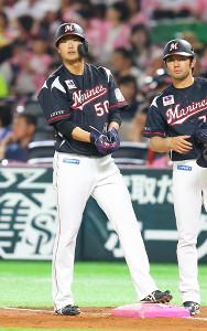 3回無死、プロ初安打を放った松田