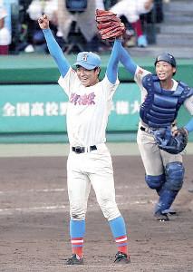 17年、夏の甲子園で優勝を決めた花咲徳栄・清水