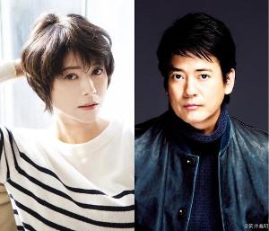 日テレ系連続ドラマ「ボイス 110緊急指令室」に主演する唐沢寿明(右)と真木よう子