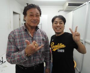 天龍源一郎氏(左)とチームフルスイング利根川亘代表