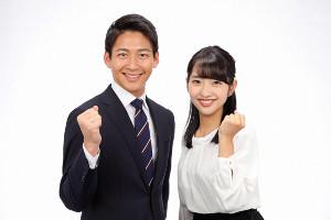 堀池亮介(左)、藤本万梨乃(C)フジテレビ