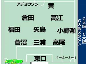 G大阪のC大阪戦先発
