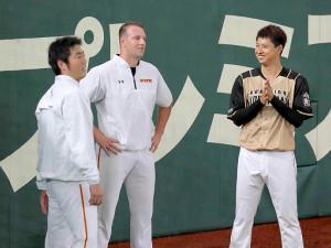 上原(左)と村田(中央はマシソン)