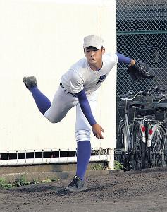 最速146キロを誇る知徳の大型右腕エース・栗田
