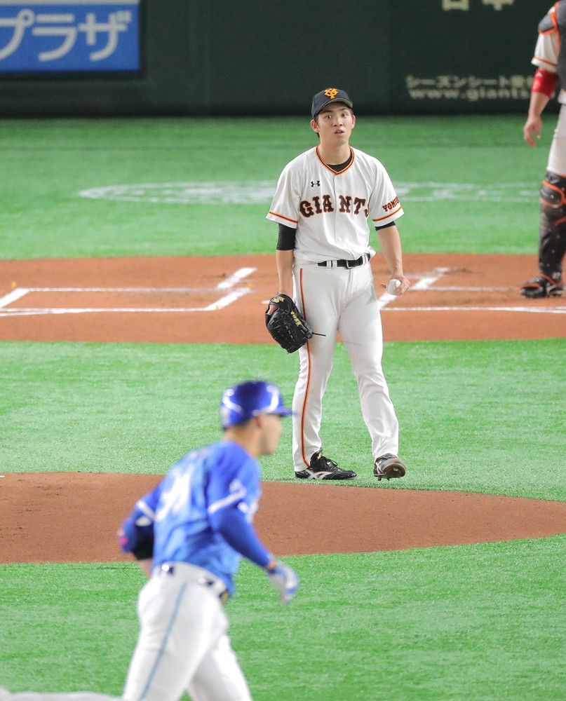 1回1死一塁、ソトに左翼席へ先制の2ラン本塁打を打たれた高橋(カメラ・生澤 英里香)