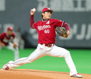 5度目の先発で今季初勝利をあげた古川(カメラ・宮崎 亮太)