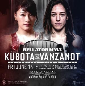 KUBOTAと表記されたRENAとヴァンザントの「Bellator 222」ポスター