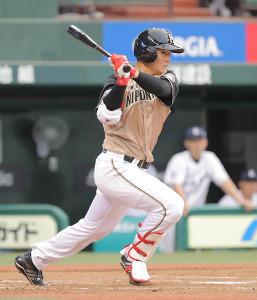 4回2死満塁、2点適時打を放った清宮幸太郎