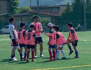 山形県内でサッカー教室を開催した日本代表FW岡崎慎司