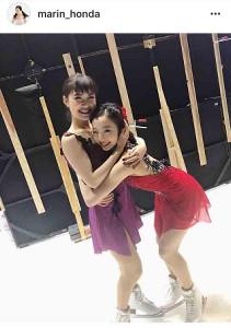 【フィギュアスケート】本田真凜、村上佳菜子に抱きつき2ショットが「可愛いすぎ」「妹感すごい」と反響 ->画像>154枚
