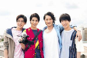 ドラマ初主演が決まったSnow Manの(左から)目黒蓮、ラウール、岩本照、渡辺翔太