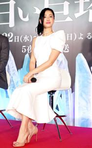 「白い巨塔」のトークショーイベントに登場した沢尻エリカ