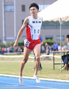日本歴代3位の好記録をマークした松枝博輝