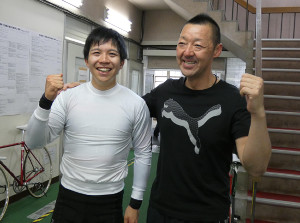 取手競輪レインボーCを勝った小林泰正と師匠の小林潤二