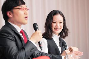 結婚報告を行った山里亮太と蒼井優
