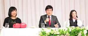 山里亮太と蒼井優の結婚報告会見には山崎静代も同席した