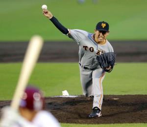 先発した桜井は、7回途中1失点の好投で2勝目を挙げた(カメラ・安藤 篤志)