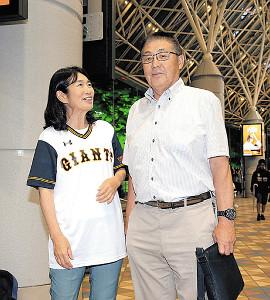 試合を観戦した若林の両親(父・憲一さん、母・智子さん)