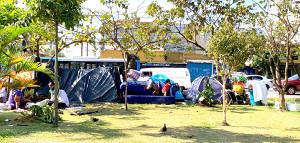 日本代表が滞在するホテルから徒歩5分圏内にいるサンパウロのホームレス