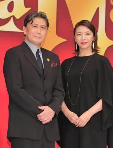 製作発表に出席した(左から)松本白鸚、瀬奈じゅん