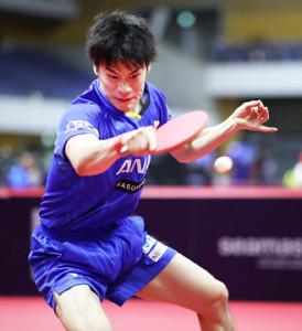 男子シングルスで決勝トーナメントに進出した吉田雅己